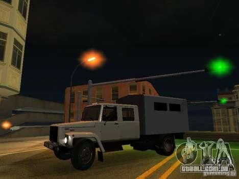 GAZ 3309 Huntsman para GTA San Andreas vista interior