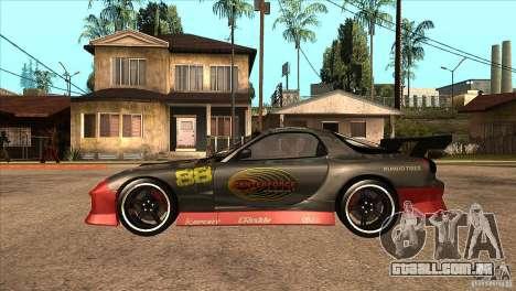 Mazda RX7 Tuned para GTA San Andreas esquerda vista
