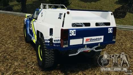 Hummer H3 raid t1 para GTA 4 traseira esquerda vista