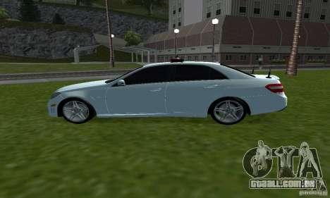 Mercedes-Benz E63 DPS para GTA San Andreas esquerda vista