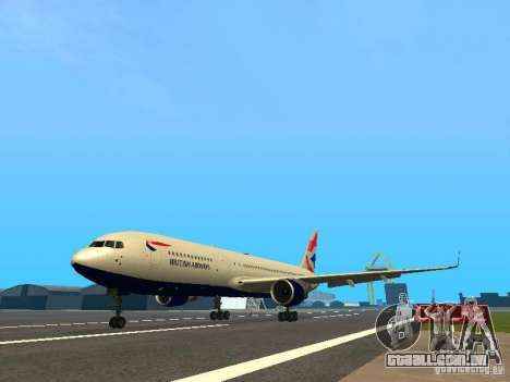 Boeing 767-300 British Airways para GTA San Andreas