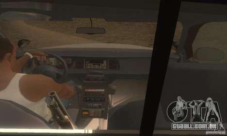Ford Crown Victoria Louisiana Police para GTA San Andreas traseira esquerda vista