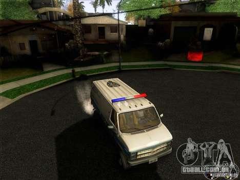 Chevrolet VAN G20 NYPD SWAT para GTA San Andreas vista superior