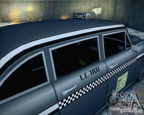 Diablo Cabbie HD para GTA San Andreas vista traseira