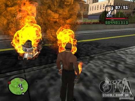 Molotov-cossacos para GTA San Andreas por diante tela