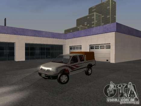Nissan Pickup para GTA San Andreas vista traseira