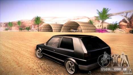Volkswagen Golf MK II para GTA San Andreas traseira esquerda vista