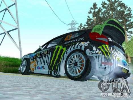 Ford Fiesta Ken Block Dirt 3 para GTA San Andreas vista direita