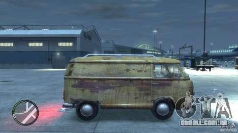 VW Transporter T2 para GTA 4 vista direita
