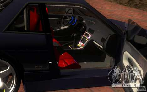 Nissan Silvia S13 Onevia para GTA San Andreas vista superior