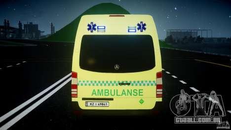 Mercedes-Benz Sprinter PK731 Ambulance [ELS] para GTA 4 rodas