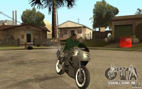 Streetfighter NRG 500 Snakehead v2 para GTA San Andreas vista traseira