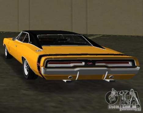 Dodge Charger RT 1969 para GTA Vice City vista traseira esquerda