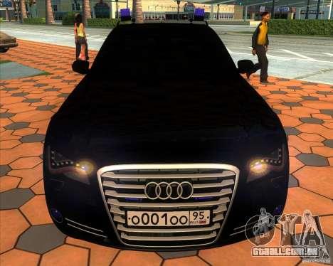 Audi A8 2010 v2.0 para GTA San Andreas vista superior