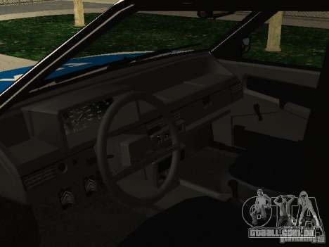 Polícia de 2109 VAZ para GTA San Andreas vista direita