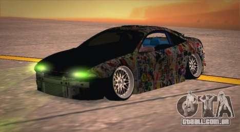 Mitsubishi Eclipse 1997 Drift para GTA San Andreas vista direita