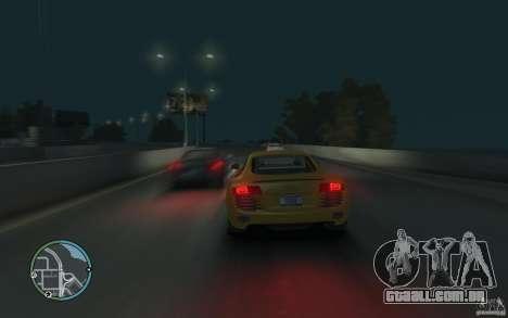 Audi R8 4.2 FSI para GTA 4 traseira esquerda vista