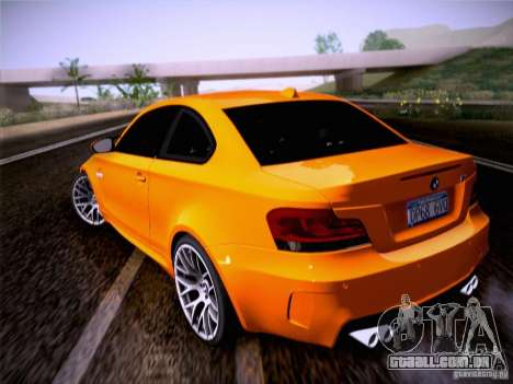 BMW 1M E82 Coupe para GTA San Andreas esquerda vista