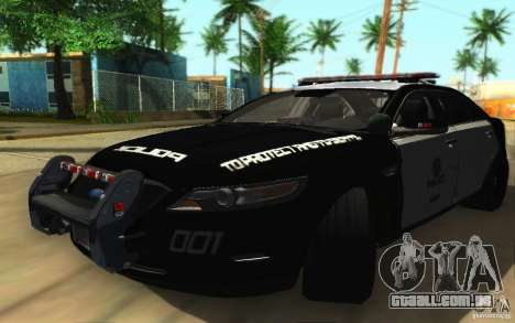Ford Taurus 2011 LAPD Police para GTA San Andreas esquerda vista