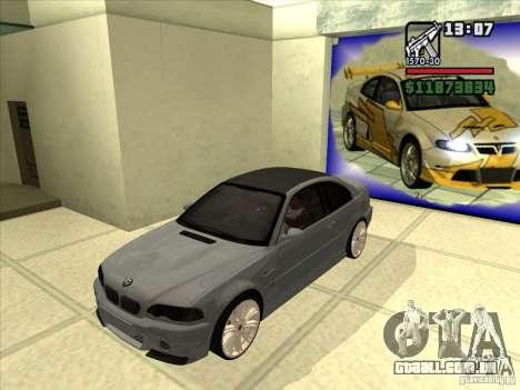 BMW M3 CSL E46 G-Power para GTA San Andreas vista traseira