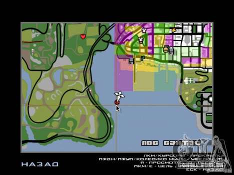 Mansão da ilha para GTA San Andreas nono tela