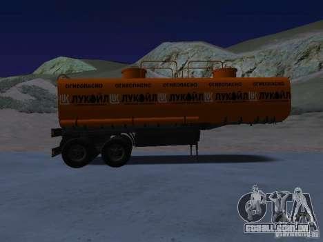 Tanque Lukoil para GTA San Andreas esquerda vista