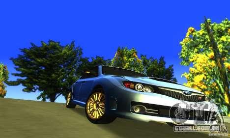 Subaru Impresa WRX STI 2008 para GTA San Andreas vista interior