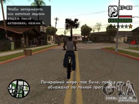 Tradução original de 1 c para GTA San Andreas segunda tela