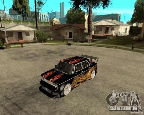 Melodia GTX VAZ 2106 para GTA San Andreas esquerda vista