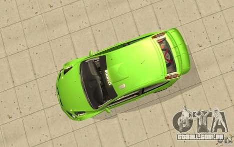 Ford Focus RS WRC 08 para GTA San Andreas vista direita