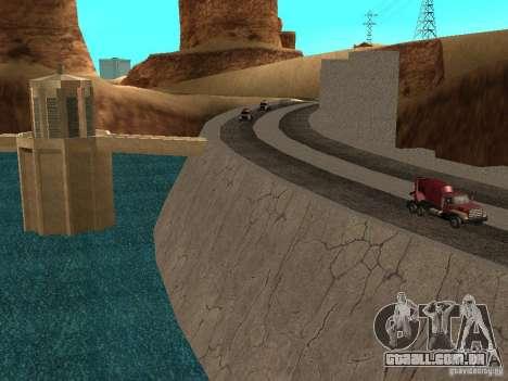 Novas texturas para barragens para GTA San Andreas terceira tela