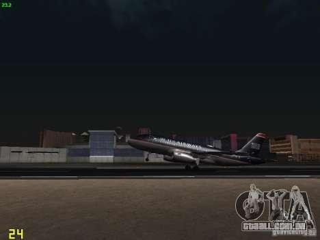 Airbus A319 USAirways para GTA San Andreas vista interior