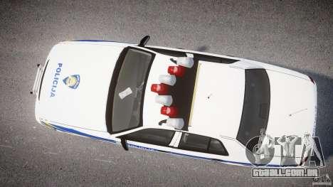 Ford Crown Victoria Croatian Police Unit para GTA 4 traseira esquerda vista