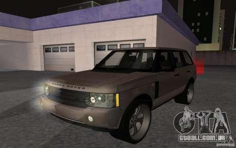 Land Rover Supercharged para GTA San Andreas