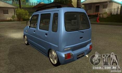 Suzuki Karimun GX para GTA San Andreas traseira esquerda vista