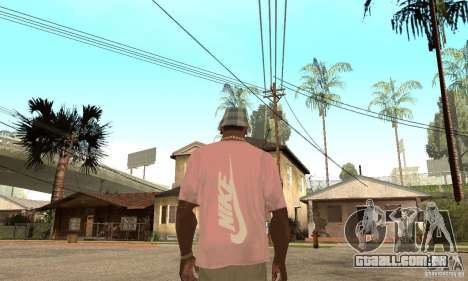 Pink Nike T-Shirt para GTA San Andreas segunda tela