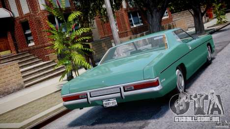 Mercury Monterey 2DR 1972 para GTA 4 traseira esquerda vista