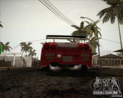 Nissan Skyline Z-Tune v2.0 para GTA San Andreas vista inferior