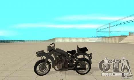Bike Wolfenstein para GTA San Andreas esquerda vista
