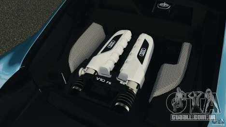 Audi R8 5.2 Stock Final para GTA 4 vista lateral