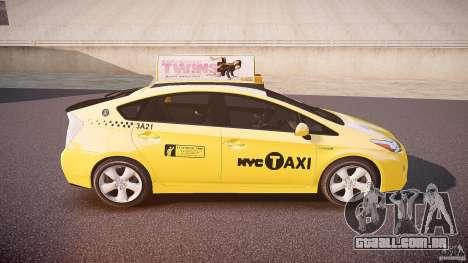 Toyota Prius NYC Taxi 2011 para GTA 4 vista superior