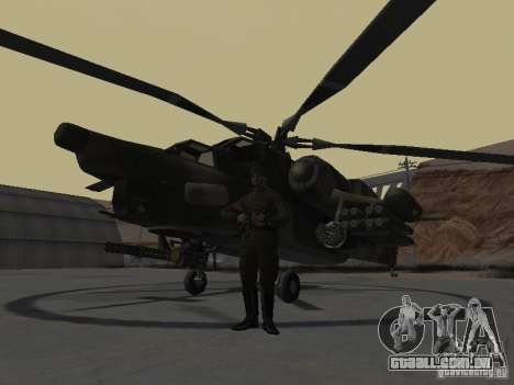 Mi-28 para GTA San Andreas esquerda vista