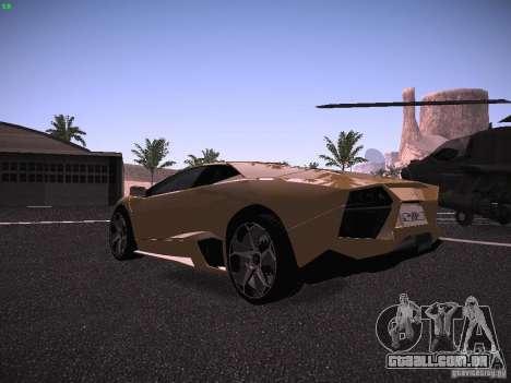 Lamborghini Reventon para GTA San Andreas vista direita