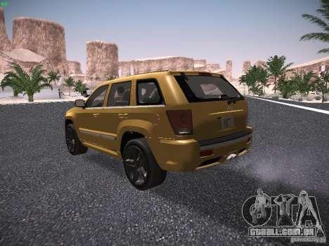 Jeep Grand Cherokee SRT8 para GTA San Andreas vista direita