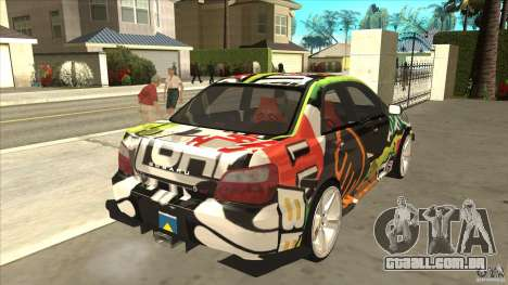 Subaru Impreza 2005 Mission Edition para GTA San Andreas vista direita