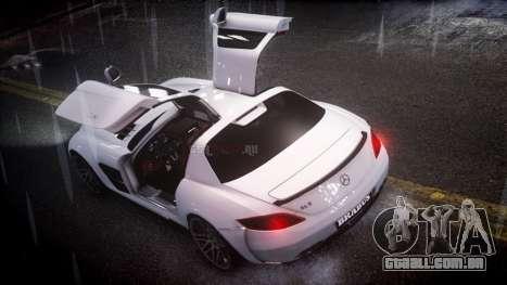 Mercedes-Benz SLS 2011 Brabus AMG Widestar v1.1 para GTA 4 esquerda vista