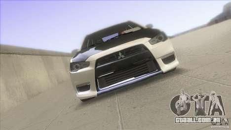 Mitsubishi Lancer Evo IX DIM para GTA San Andreas vista direita