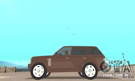 Range Rover Vogue 2004 para GTA San Andreas traseira esquerda vista