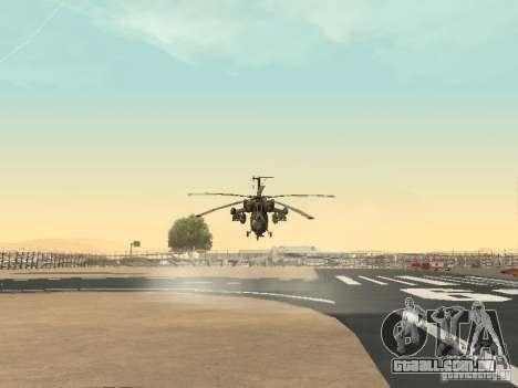 Mi-28 para GTA San Andreas vista traseira