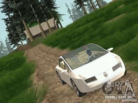 Renault Vel Satis para GTA San Andreas traseira esquerda vista